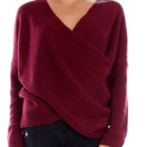 Aeon Cross Front Knit Sweater